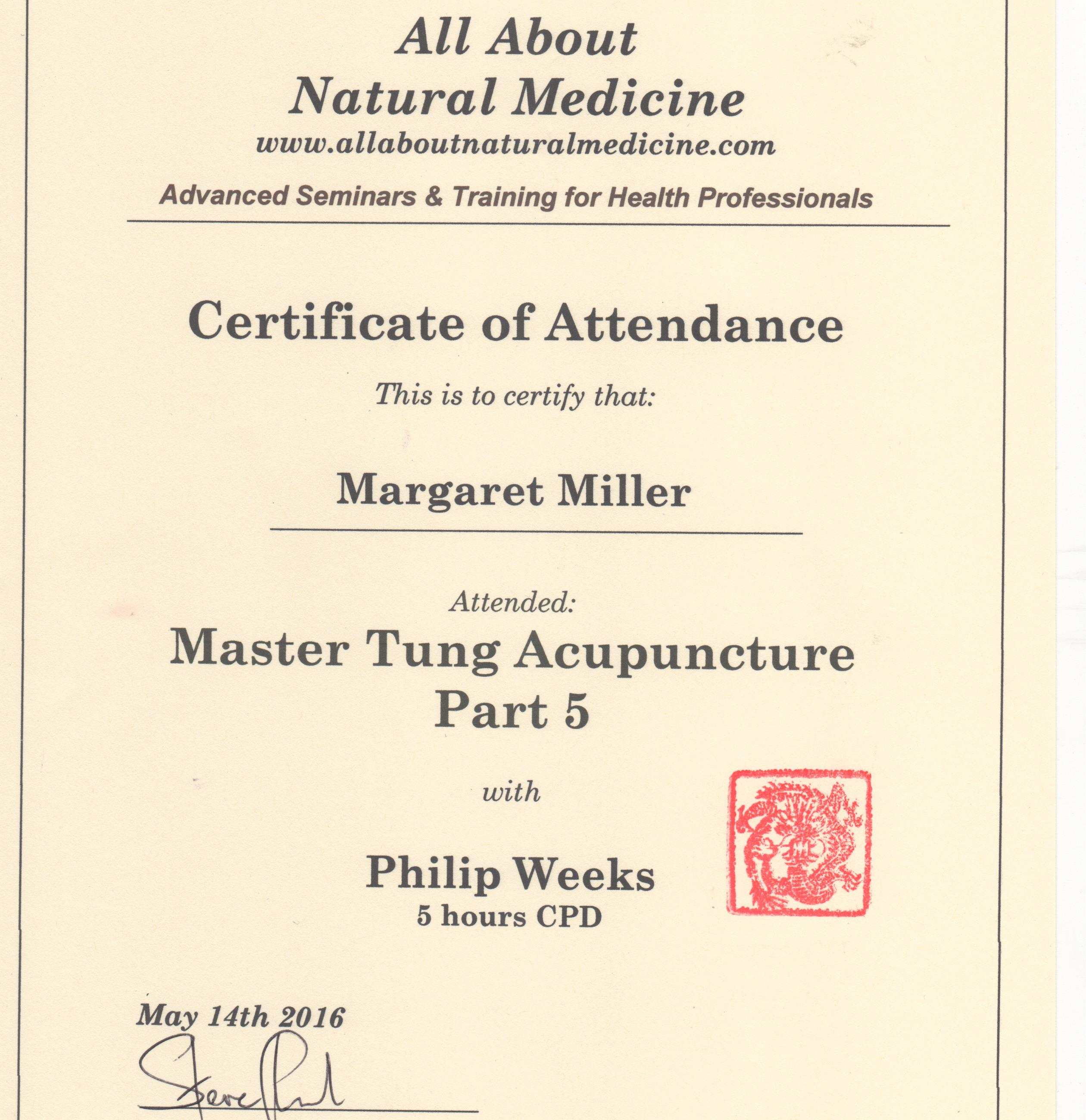 Acupuncture Certification Gallery - creative certificate