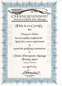 fuzang certificate 001